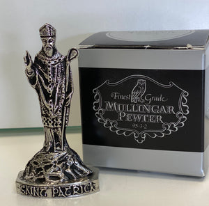 Small st. Patrick pewter statue
