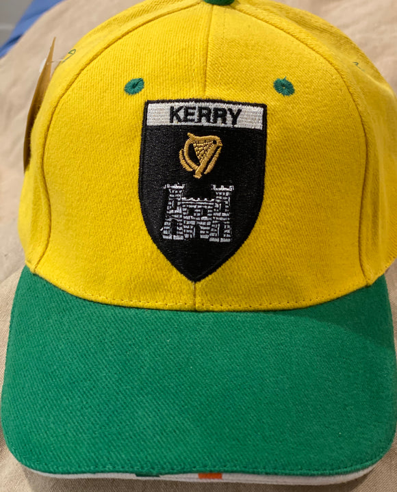 Green and yellow county Kerry cap