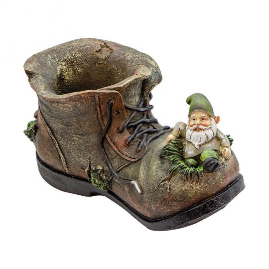 Old Leprechaun in the Shoe Planter