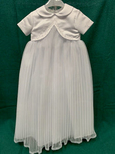 Girls Vested Christening Gown