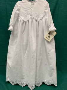 Christening Gown with Cross Ribbon and Stitched Trinity