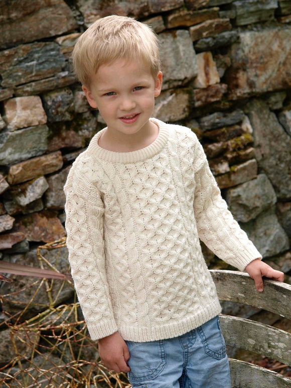 Aran Crafts Merino Wool Crew Neck Sweater - Unisex