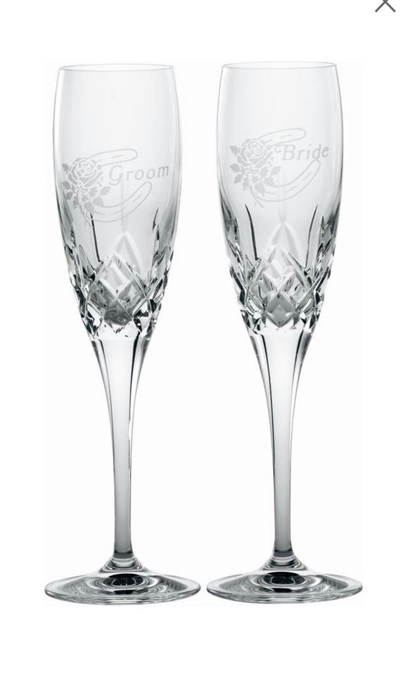 Bride & Groom Flutes Pair