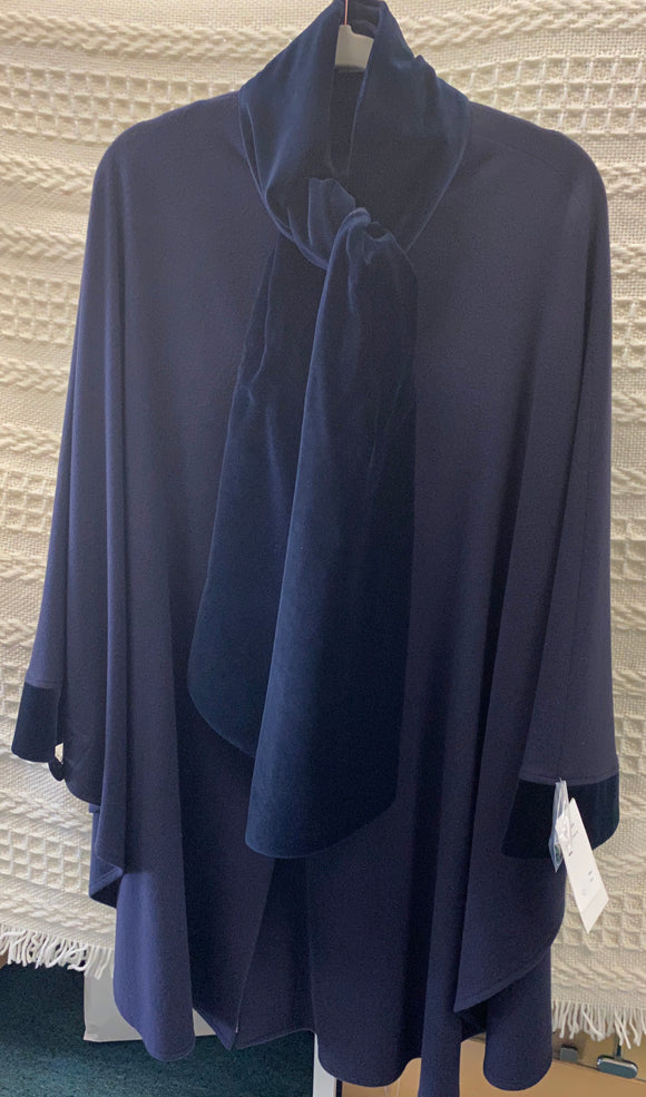 Jimmy hourihan cape with velvet scarf 9203 312/14
