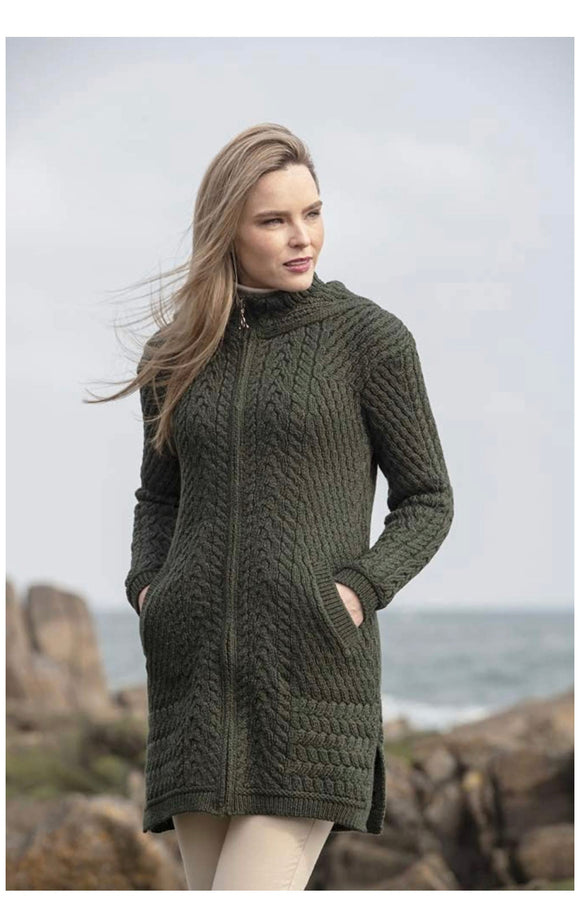 HD4826 ribbed coat with hood XL