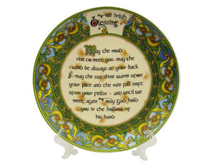 "Old Irish Blessing 8"" Plate"