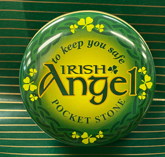 Irish angel pocket stone