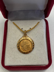 St. Cecilia gold plated medal J700CE