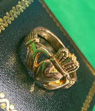 Wide heart , tall crown claddagh size 6