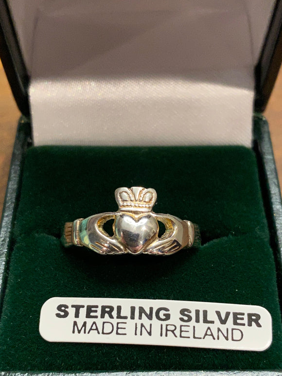 SCL524 silver claddagh heavy ladies