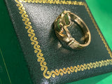 Thick claddagh ring size 6 10k