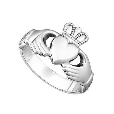 GENTS SILVER HEAVY CLADDAGH RING Code: S2272