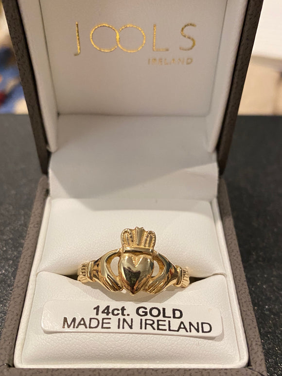 JZ Blackman heavy mans claddagh 14k CL302