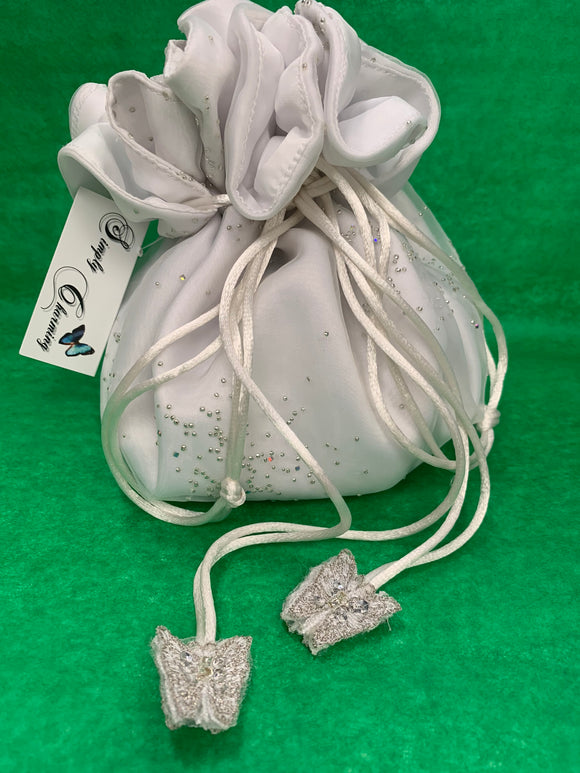Satin Butterfly Tear-Drop Purse