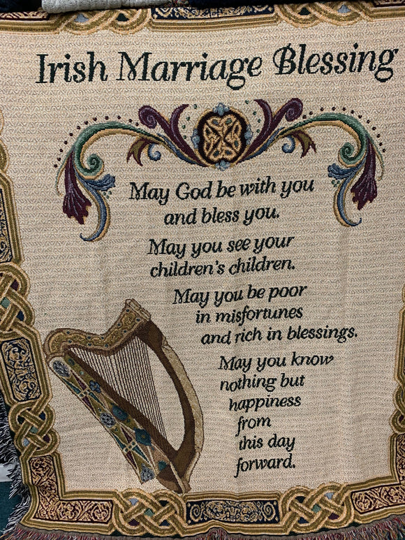 Irish Marriage Blessing throw blanket