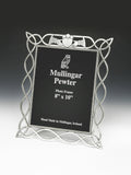 Pewter Picture Frame Celtic Design with Claddagh