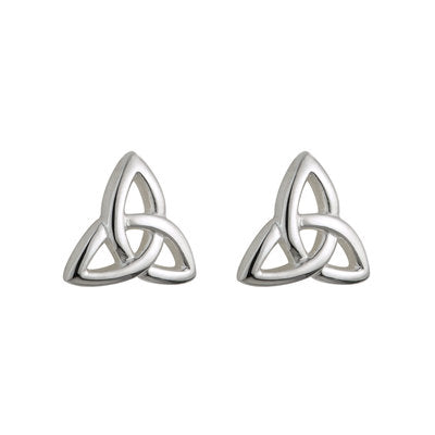 SILVER KIDS TRINITY KNOT STUD EARRINGS