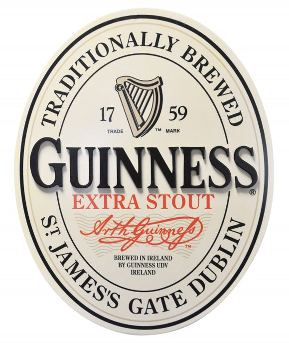 Guinness® 3-D Oval Label Wallart