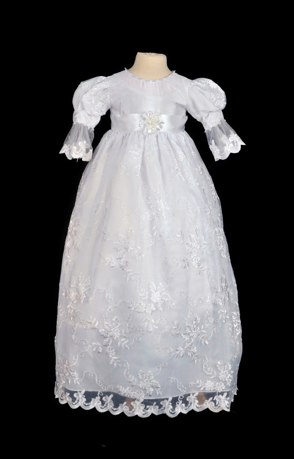 Lace Baptism Gown i373C