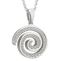 Celtic Spiral with Encrusted Crystals