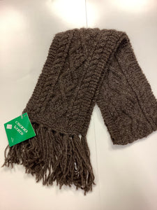 Brown hand knit scarf