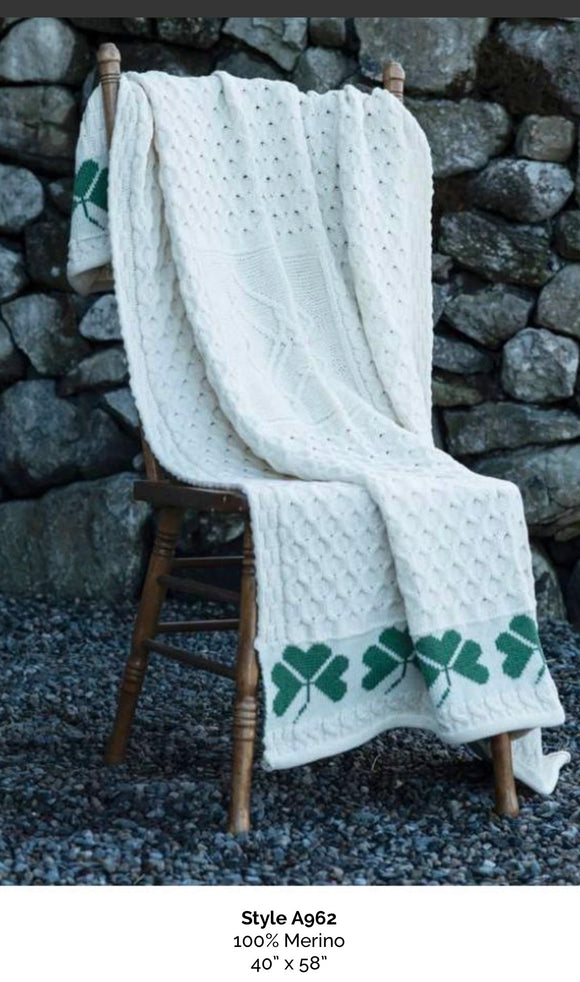 Shamrock throw aran woolen Mills A962