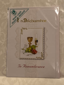 In remembrance card