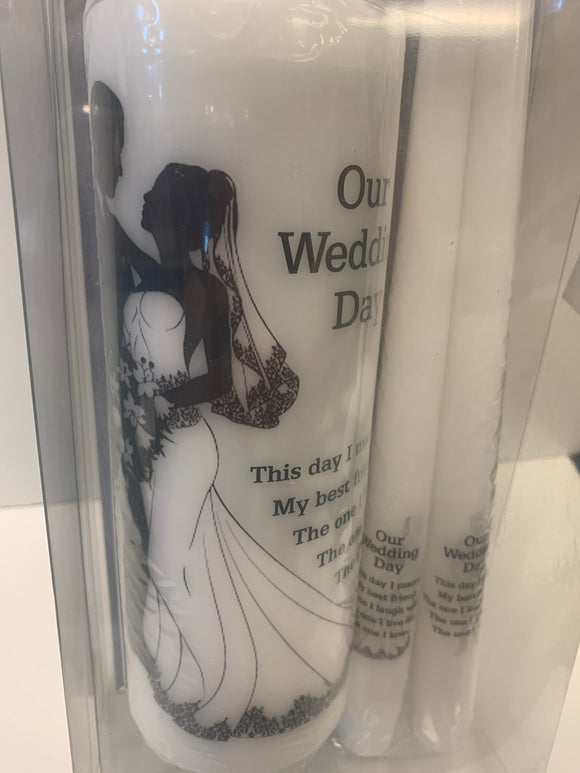 Out Wedding Day Candle Set