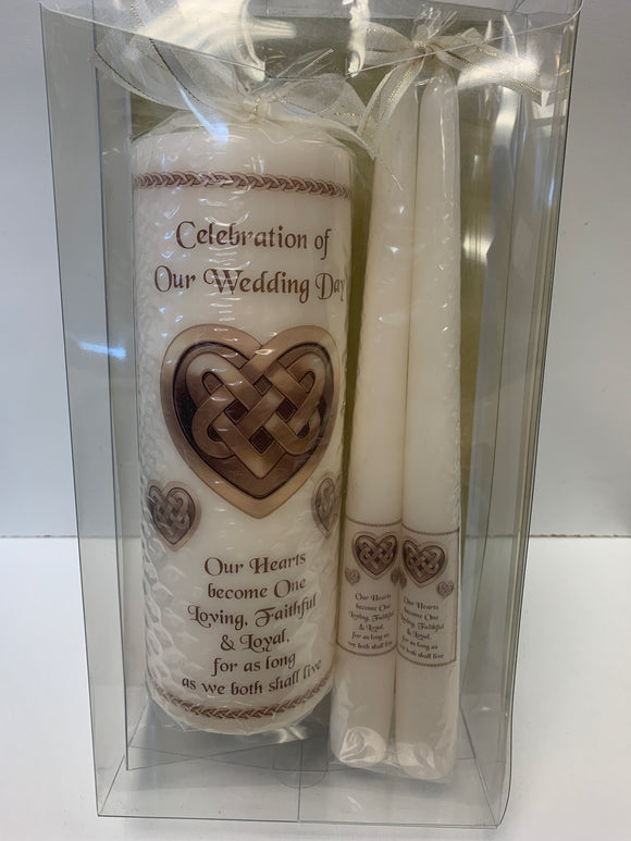Celebration of Our Wedding Day Candle Set