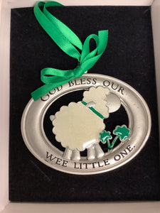 God Bless Our Wee Little One Crib Medal