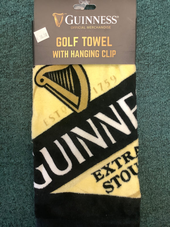 Guinness golf towel