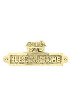 Bless this Home Brass Plaque swp20bth