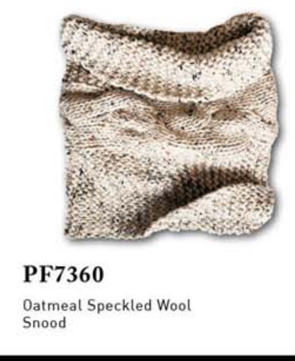 Patrick Francis oatmeal speckled wool snood PF7360