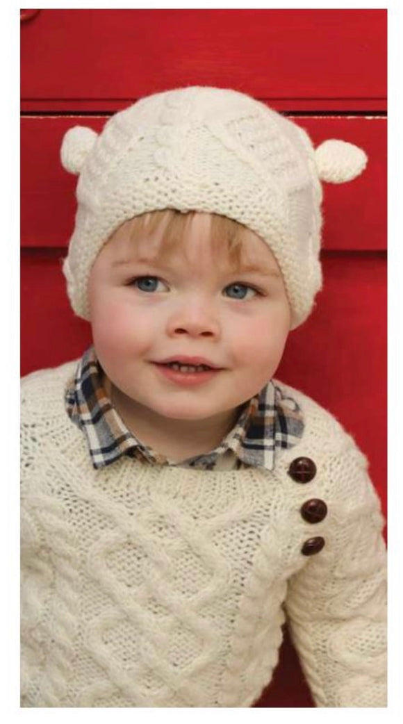 Kids Hand Knitted Hat with Ears R490