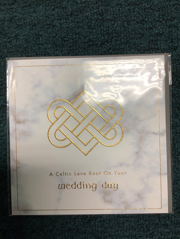 Celtic love knot on your wedding day card