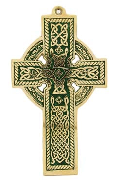 FLAT MEDIUM CATHEDRAL CROSS GREEN