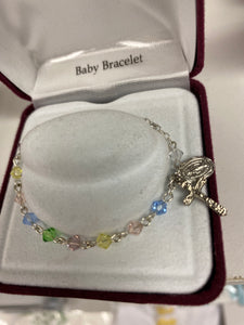 Multi color child's rosary bracelet BR123D