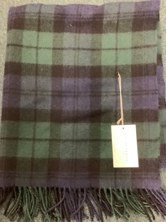 Lochcarron of Scotland black watch stroller blanket