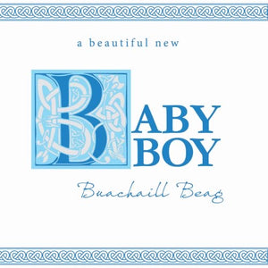 A beautiful new baby boy greeting card