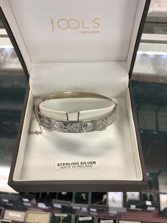 Jools sterling silver bracelet thick band #JL250