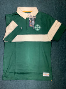 Men's polo Celtic cross and Ireland