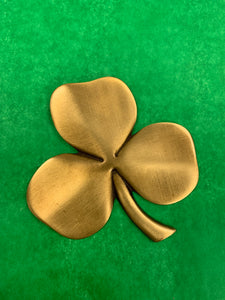 Brass Shamrock Plaque