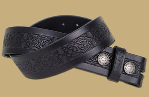 Lee River Black Celtic Design Belt
