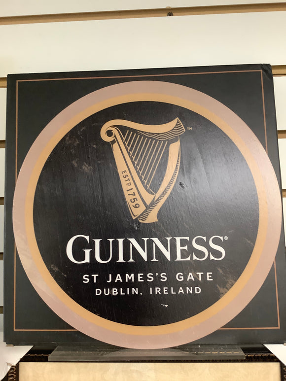 Guinness wood wall plaque