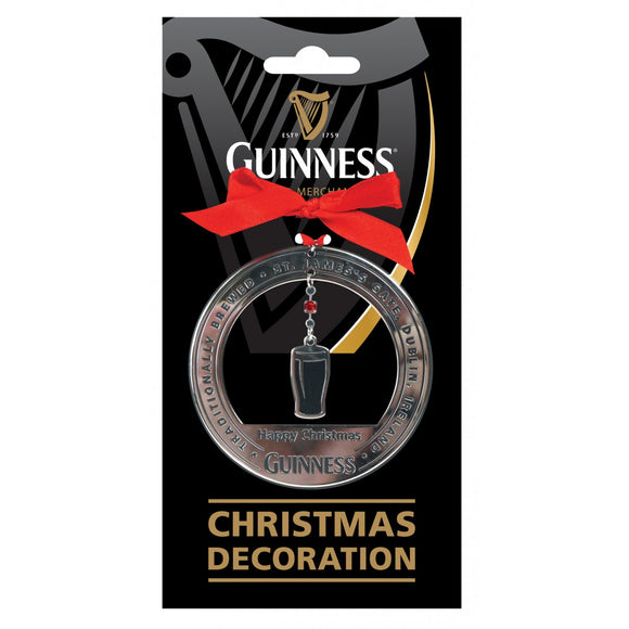 Guinness Christmas Pint Decoration