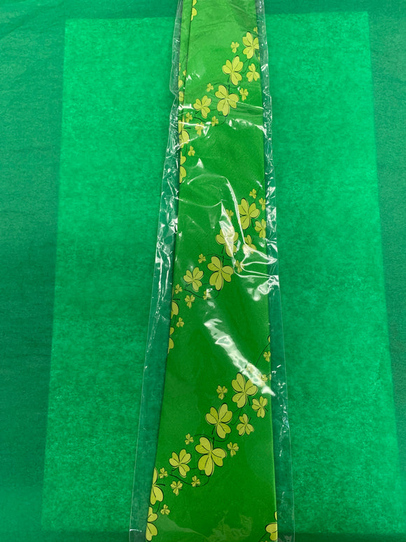 Green Tie with Assorted Shamrocks