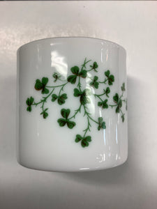 Glass napkin ring with shamrocks