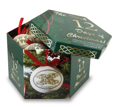 12 days of Christmas ornament gift set