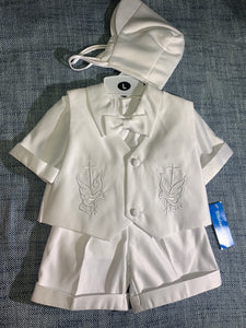 Boys 2 Piece Baptism Set with Shorts #6155