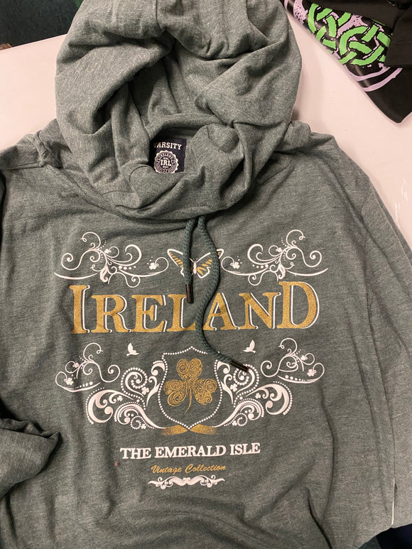 Ireland Roll neck with hood butterfly shirt
